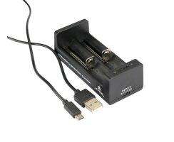 XTAR MC-2 Ladegerät für Li-Ion-Akkus 3,6V/3,7V inkl. USB-Kabel und Stecker 1A